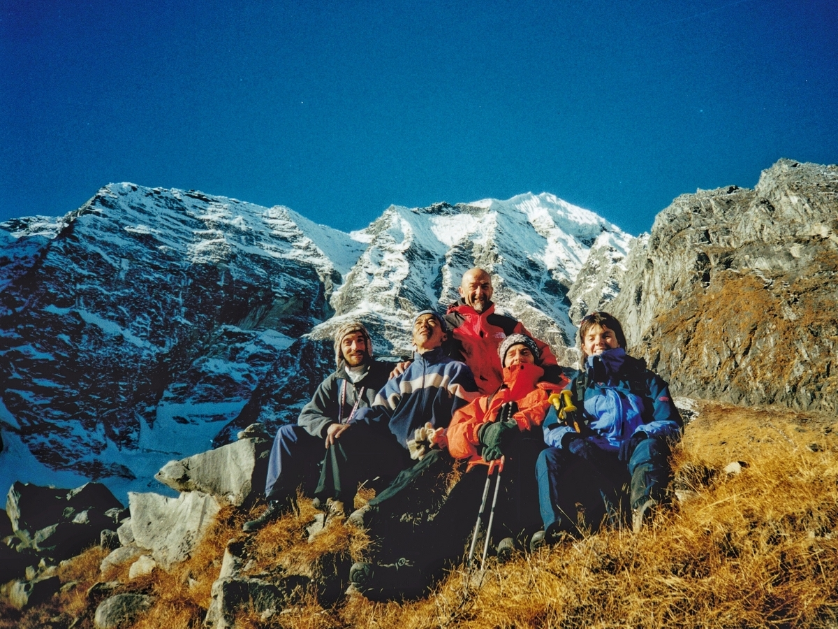 Una parte del gruppo sull'Annapurna Trek