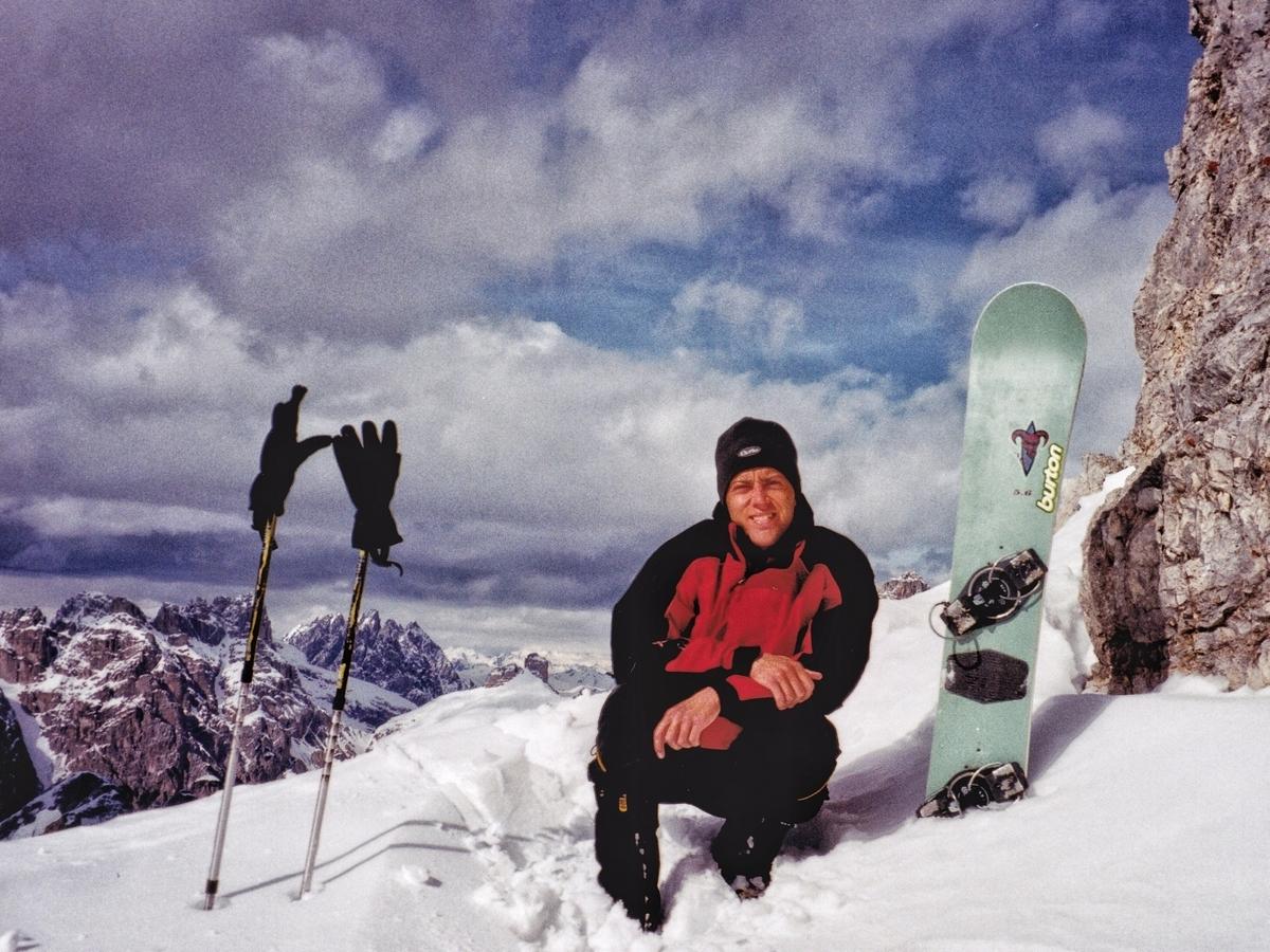 Snowboard-alpinismo sui Cadini di Misurina