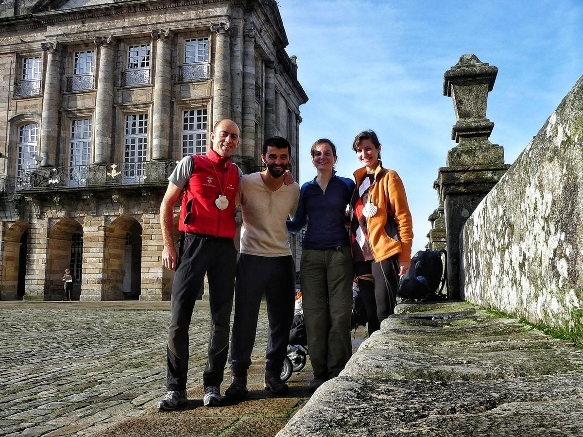 In Praza do Obradoiro a Santiago de Compostela