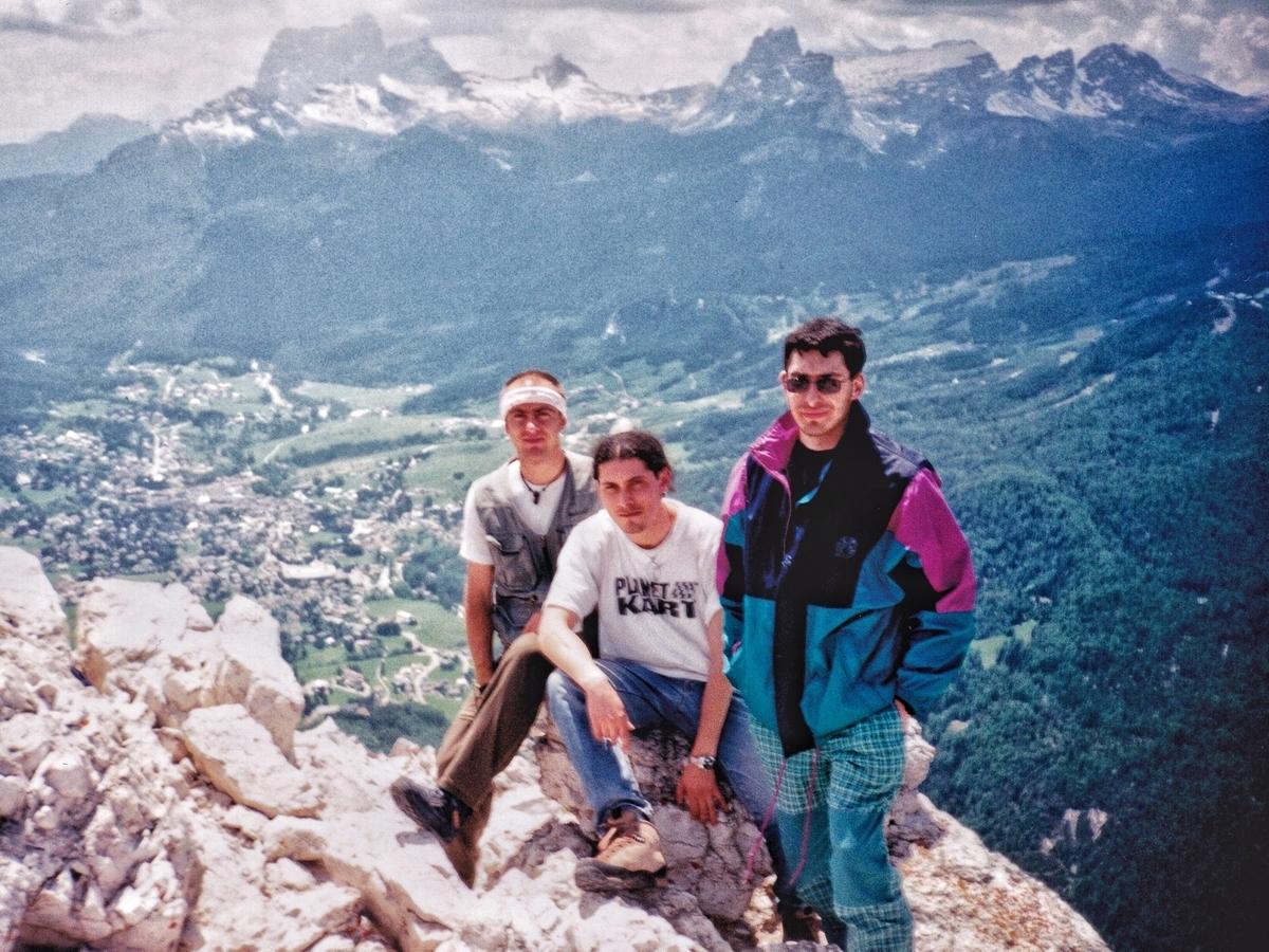 In cima a Punta Fiammes, Cortina d'Ampezzo