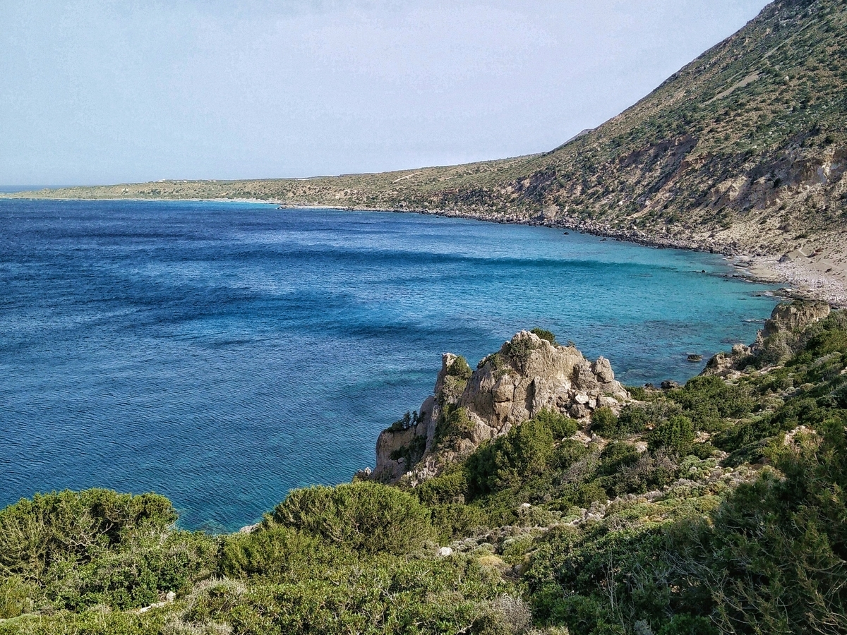 Creta, tratto di costa lungo la Cretan Way