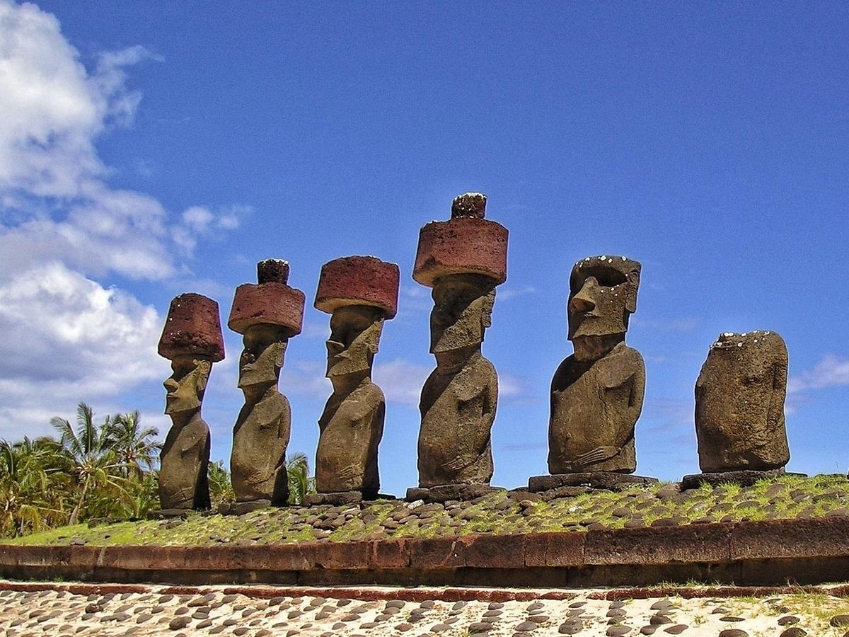 Moai all'Isola di Pasqua (Rapa Nui), Cile